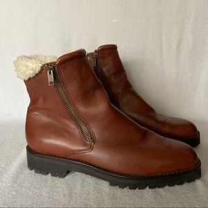Cole Haan Leather Sherpa Boots Size 7.5